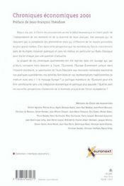 Chroniques Economiques ; Edition 2001 - 4ème de couverture - Format classique