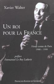 Roi Pour La France - Henri Comte De Paris - Intérieur - Format classique