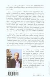 Roi Pour La France - Henri Comte De Paris - 4ème de couverture - Format classique