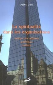 La spiritualite dans les organisations - Intérieur - Format classique