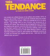 Tres Tendance ; La Mode De 1900 A 1999 - 4ème de couverture - Format classique