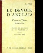 Le Devoir D'Anglais - Couverture - Format classique