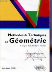 Methodes & Techniques En Geometrie A Propos De La Droite De Newton - Couverture - Format classique