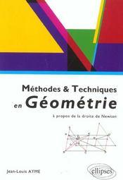 Methodes & Techniques En Geometrie A Propos De La Droite De Newton - Intérieur - Format classique