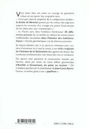 Methodes & Techniques En Geometrie A Propos De La Droite De Newton - 4ème de couverture - Format classique