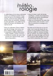 La météorologie - 4ème de couverture - Format classique