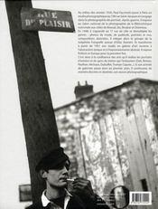Paul Faccheti, photographe - 4ème de couverture - Format classique