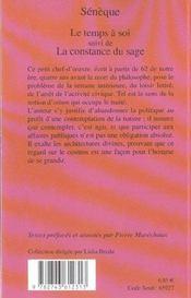 Le Temps A Soi (1ere Ed) - 4ème de couverture - Format classique