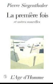 La Premiere Fois - Couverture - Format classique