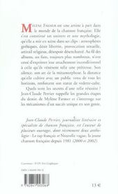 Mylene Farmer : Au Coeur Du Mythe - 4ème de couverture - Format classique