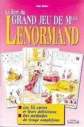 Le livre du grand jeu de Melle Lenormand - Couverture - Format classique