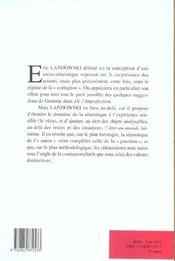 Nouveaux Actes Semiotiques, N 83/2002. En Deca Ou Au-Dela Des Strate Gies, La Presence Contagieuse - 4ème de couverture - Format classique