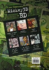 Les chansons de mickey 3D en bd - 4ème de couverture - Format classique