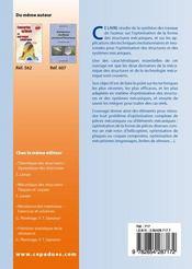 Optimisation des structures et d'elements mecaniques ; optimization of mechanical structures and elements - 4ème de couverture - Format classique