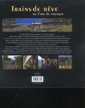 Trains de reve ou l'art de voyager - 4ème de couverture - Format classique
