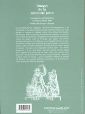 Images De La Memoire Juive Broche - 4ème de couverture - Format classique