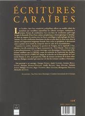 Ecritures Caraibes - 4ème de couverture - Format classique