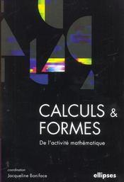 Calculs & Formes De L'Activite Mathematique - Intérieur - Format classique