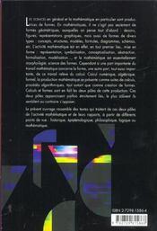 Calculs & Formes De L'Activite Mathematique - 4ème de couverture - Format classique