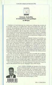 Jeunesse, funérailles et contestation socio-politique en Afrique - 4ème de couverture - Format classique