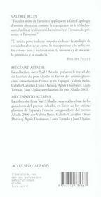 Valerie Belin ; Laureate Altadis - 4ème de couverture - Format classique