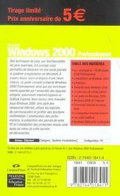 Windows 2000 - 4ème de couverture - Format classique