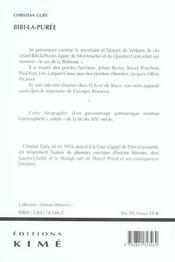 Bibi-La-Puree, Compagnon De Verlaine - 4ème de couverture - Format classique