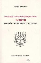 Considerations Esoteriques Sur Scheth - Couverture - Format classique