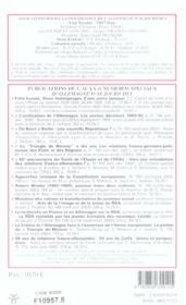 Revue Allemagne D'Aujourd'Hui N.173 ; Lieux De Mémoire Dans Les Nouveaux Lander Allemands - 4ème de couverture - Format classique