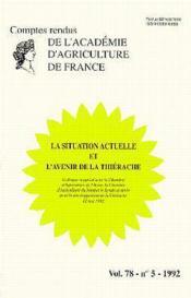 La situation actuelle & l'avenir de la thierache (vol.78 - n.5 - 1992) - Couverture - Format classique