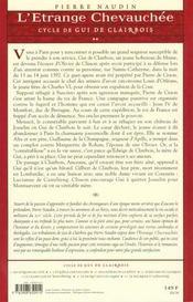 Cycle Gui de Clairbois t.2 ; l'étrange chevauchée - 4ème de couverture - Format classique