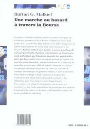 Une Marche Au Hasard A Travers La Bourse - 4ème de couverture - Format classique