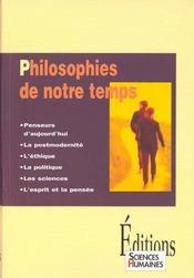 Philosophies de notre temps - Intérieur - Format classique