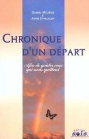 Chronique D'Un Depart - Couverture - Format classique