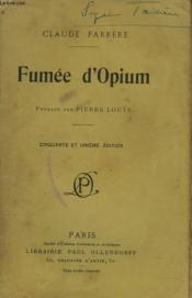 Fumee D'Opium - Couverture - Format classique