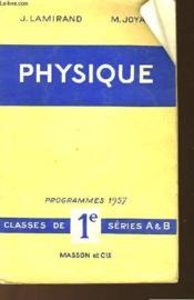Physique - Programme De 1957 - Couverture - Format classique