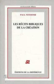 Recits Bibliques De La Creation - Couverture - Format classique