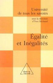 Egalites et inegalites - Intérieur - Format classique
