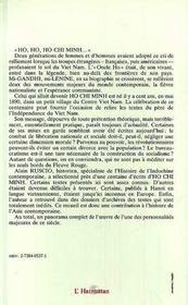 Ho chi minh ; textes, 1914- 1969 - 4ème de couverture - Format classique