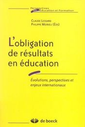 Obligation De Resultat En Education - Intérieur - Format classique
