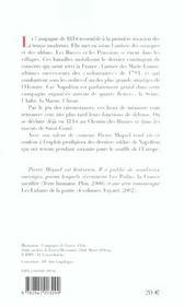 Napoleon, la campagne de france - 4ème de couverture - Format classique