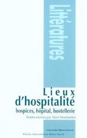 Lieux d'hospitalité ; hospices, hopital, hostellerie - Intérieur - Format classique
