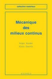 Mecanique des milieux continus - Couverture - Format classique
