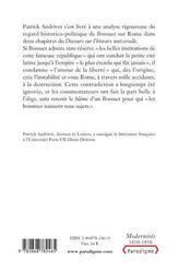 La liberté coupable ou les anciens romains selon bossuet - 4ème de couverture - Format classique