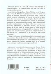 Les Reines De France Au Temps Des Bourbons T.2 Les Femmes Du Roi-Soleil - 4ème de couverture - Format classique