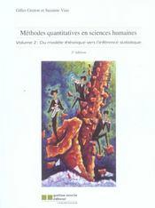 Methodes Quantitatives En Sciences Humaines V2 (2e Ed) - Intérieur - Format classique