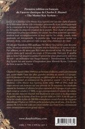 La clé de la maîtrise ; un merveilleux guide pour obtenir tout ce que vous désirez dans la vie - 4ème de couverture - Format classique