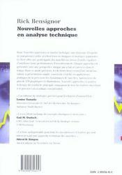 Nouvelles approches en analyse technique - 4ème de couverture - Format classique