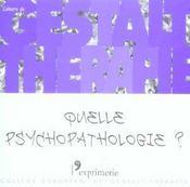 Cahier De Gt 19 - Quelle Psychopathologie? - Intérieur - Format classique