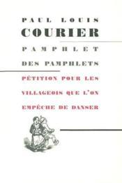 Pamphlet des pamphlets - Couverture - Format classique